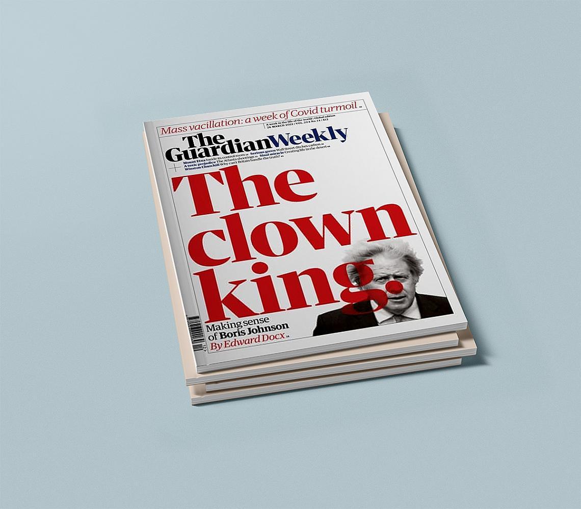 <p>Кралят на клоуните - Guardian Weekly от 26 март.</p>